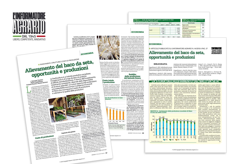 L'Informatore Agrario: investimenti, strutture e costi di produzione